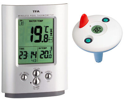 Funk Schwimmbadthermometer Poolthermometer Tfa 30.3033 Silber Teichthermometer