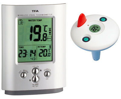 Funk- Schwimmbadthermometer Poolthermometer Tfa 30.3033 Silver Teichthermometer
