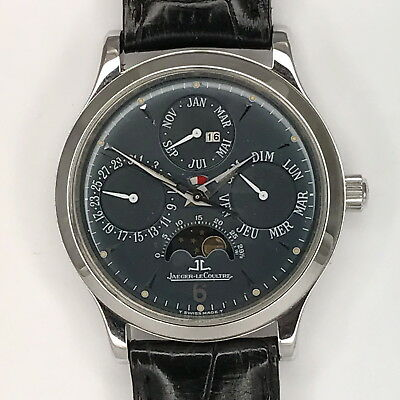 JAEGER LE COULTRE PLATIN MASTER CONTROL PERPETUAL / EWIGER KALENDER  Limited 250