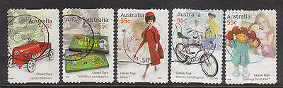 Australia 2009 Classic Toys Used  lot 5, p & s stamps