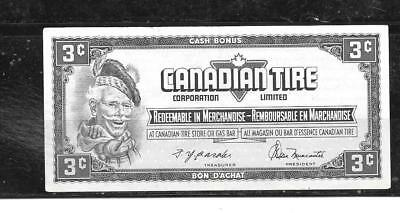 Canada Canadian 1974 3 Cent Vf Circ Tire Money Currency Banknote Bill Note
