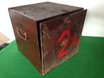 Antique Vintage Safe Storage  Box /Deposit Box or hotel letter lock box(upcycle)