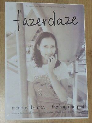 Fazerdaze - Glasgow may 2017 tour concert gig poster