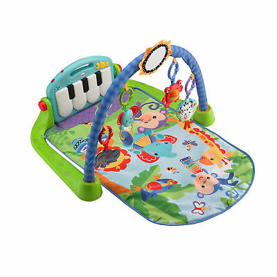 Fisher Price Baby Kick & Play Music Piano Gym Play Mat with Toys and Piano Keys