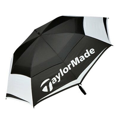 "Taylormade Golf Tm Black/white/grey Double Canopy 64"" Umbrella"