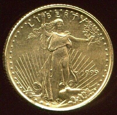 1999 1/10 Oz $5 Gold Eagle