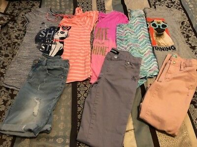 LOT OF Girls Spring Summer Clothes Outfits, JUSTICE, 10-12