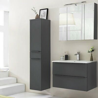 badezimmer waschplatz set 80cm metallic braun badm bel waschtisch glasbecken eur 969 00. Black Bedroom Furniture Sets. Home Design Ideas