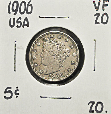 1906 USA 5 cents VF-20