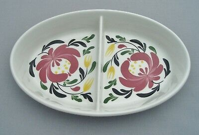 Portmeirion Welsh Dresser Oval Oven Dish With Central Division