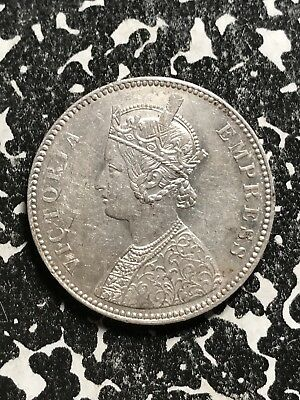 1883 India 1 Rupee Lot#X6161 Silver! Reverse Spots