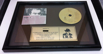 R.E.M. Life's Rich Pageant 1986 In-House Gold CD Award Plaque REM