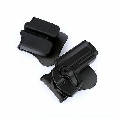 Tactical Defense Rotary Roto Belt Holster Double Paddle Magazine Pouch For M92
