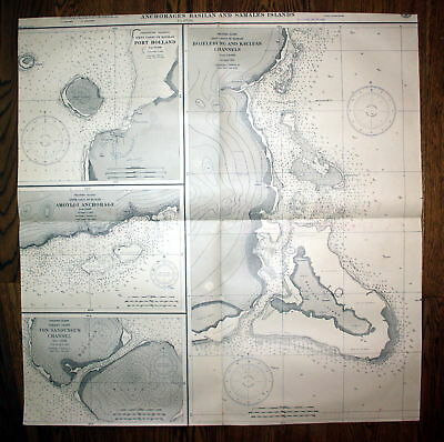 1929 Anchorages Basilan Samales Islands Philippinen Philippine Insel map Karte