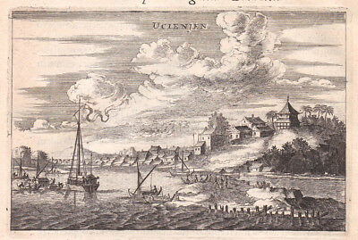 1668 Ucienjen China Asia Stadt city Ansicht Kupferstich antique print Nieuhof