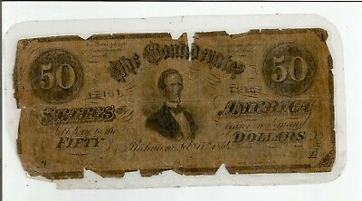 1864 $50 Richmond Note