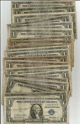 1935 $1 Silver Certificates Lot