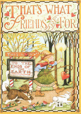THAT'S WHAT FRIENDS ARE FOR-Handcrafted Fridge Magnet-W/Mary Engelbreit art
