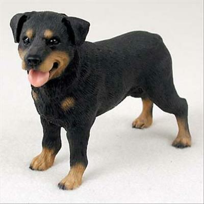 Rottweiler Dog Hand Painted Collectable Figurine Statue