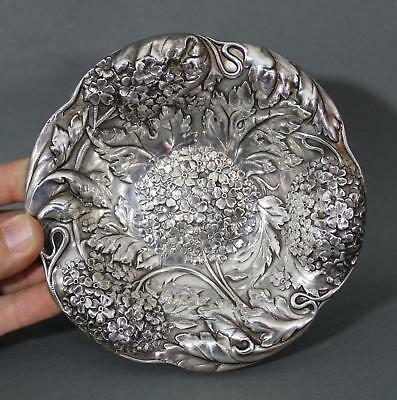 Small Antique American Alvin Repousse Sterling Silver Desert Bowl, NR