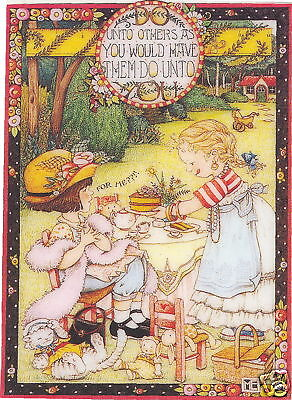 THE GOLDEN RULE-Handcrafted Tea Party Fridge Magnet-Using art by Mary Engelbreit