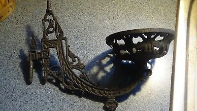 Antique / Vintage Cast Iron Wall Sconce, Candle Holder, Plant Pot Holder