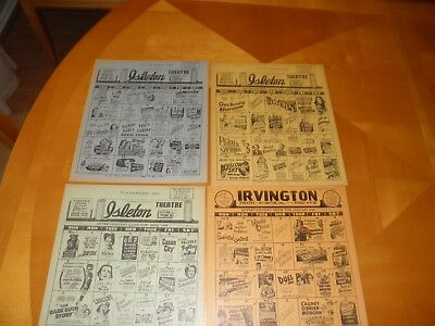 "9 Diff 1940's - 50's Small Town Theatre Calendars 9"" x 11"" Bay Area California"