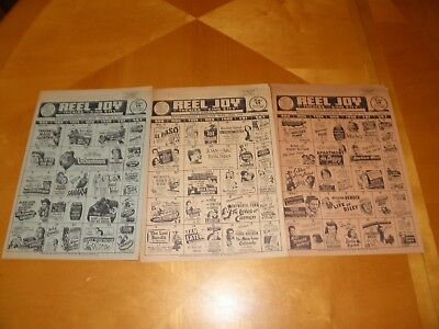 "8 Diff 1940's - 50's Small Town Theatre Calendars 9"" x 11"" Northern California"
