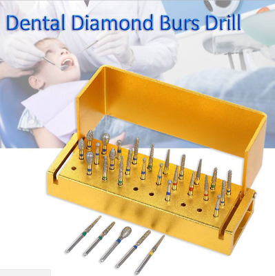 30 Pcs Dental Burs Diamond Burs Drill Polisher Teeth Whitening Polishing