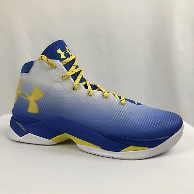 eb9a9e31b7b New Under Armour UA Curry 2.5 Basketball Shoes Blue Yellow 1274425-103 Size  10.5