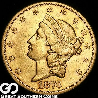 1876-S Double Eagle, $20 Gold Liberty ** Free Shipping!