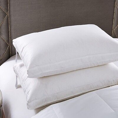 >>Twin Pack<<  White Goose Down Standard Pillow With Cotton Cover - 48x73cm