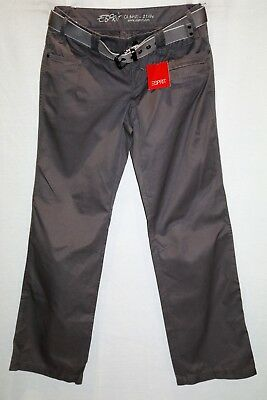 Esprit Brand Grey 5 Pocket with Belt Relaxed Casual Pants Size 10 BNWT #TB103