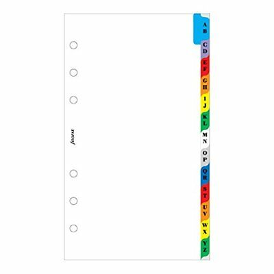Filofax Personal A-Z Index Multi-Coloured 2 Letters Per Tab 13 Tabs