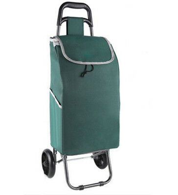 A153 Rugged Aluminium Luggage Trolley Hand Truck Folding Foldable Shopping Cart