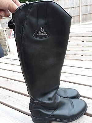 mountain horse black leather riding boots size 6.5