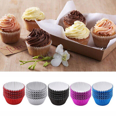 Foil/Metalic Paper Cake Cup Cupcake Wrapper Cases Muffin Baking Birthday Party