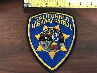 California Highway Patrol Eureka Embroidered Sew on Patch EMS PD