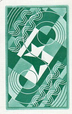 """RARE VINTAGE """"OXO (Art Deco Type) (Light Green Card)"""" SINGLE Playing Card"""