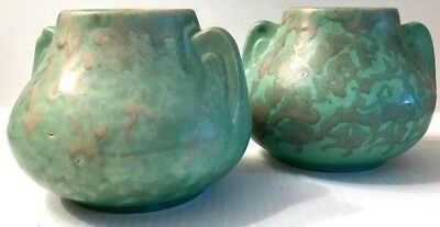 PAIR OF VINTAGE POTTERY VASES Circa 1920's McCOY - STYLE