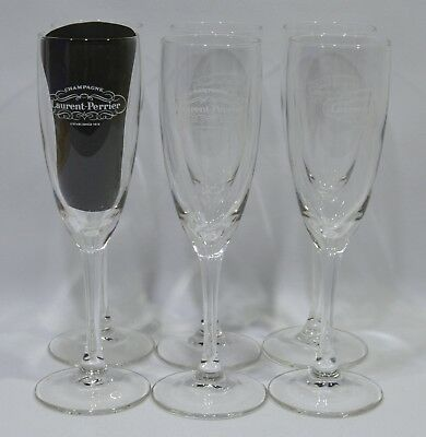 LAURENT-PERRIER CHAMPAGNE 6 Verres flûtes 10 cl marquage corps NEUF