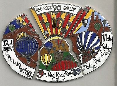 1989 - 1992 - Red Rock Balloon Rally(Rrbra) Gallup-  4 Piece Puzzle Pin Complete