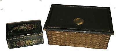 Vintage Sewing Boxes Full of Sewing Notions - NR!