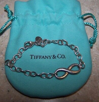 b23aefbdc39 Tiffany   Co. Infinity Chain Bracelet 925 Sterling Silver Authentic