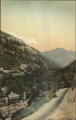 Ogden UT Hermitage Hand Colored 1927 Special TR.CLK Cancel Postcard