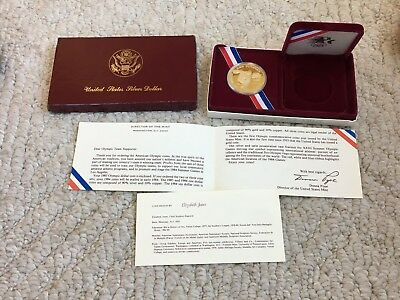 1983-S Olympic Silver Dollar - United States Mint in Original Box with Papers