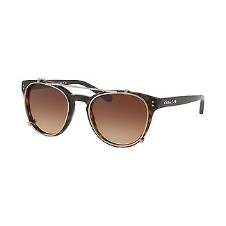 Coach Women's HC8216 512013 51 Brown Gradient Plastic Oval Sunglasses