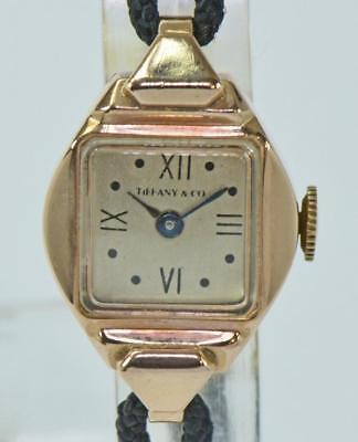 DAU Tiffany & co. in aus 14 Kt 585 Rotgold Handaufzug ladys watch