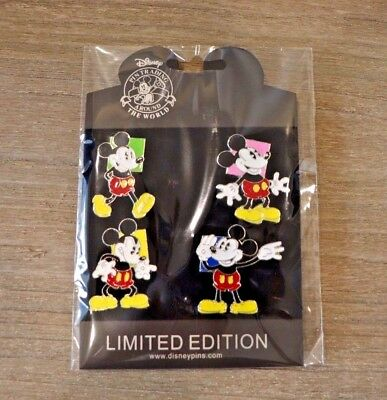 Walt Disney World Park Trading Pin Mickey Mouse emotions set of 4