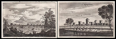 1668 China Asia Ansicht view Berge mountains Kupferstich antique print Nieuhof